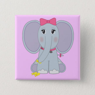 Puppy Sized Elephant Button