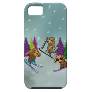 Puppy Ski Vacation iPhone 5 Case