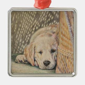 Puppy Sleeping Christmas Ornament