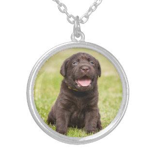 Puppy soft dog round pendant necklace
