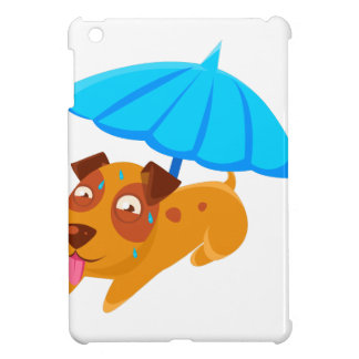 Puppy Sweating Under Umbrella On The Beach Case For The iPad Mini
