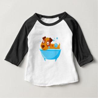 Puppy Taking A Bubble Bath In  Tub Baby T-Shirt