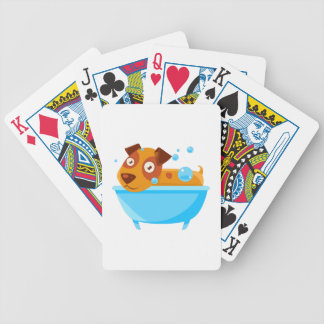 Puppy Taking A Bubble Bath In  Tub Bicycle Playing Cards