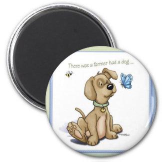 Puppy Time - BINGO Dog 6 Cm Round Magnet