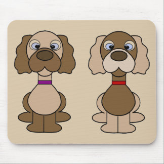 Puppy twins mousepad