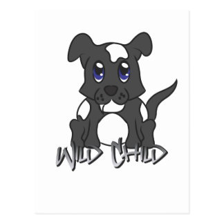Puppy WC black Post Cards