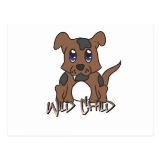 Puppy WC brown Postcard