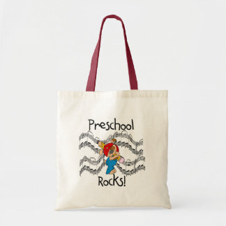 Puppy With Pencil Preschool Rocks Bags