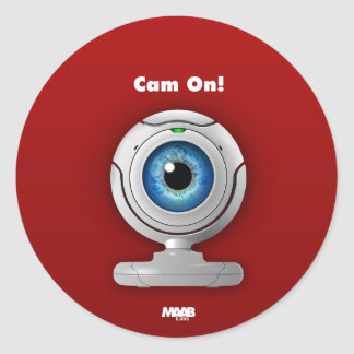 Puppyeye webcam classic round sticker