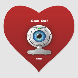 Puppyeye webcam heart sticker