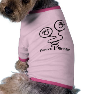 Puppy's First Birthday (Customizable) Ringer Dog Shirt