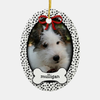Puppy's First Christmas Ceramic Oval Decoration