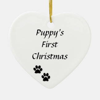 """""""Puppy's First Christmas"""" Ornament"""