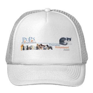 PUPs Logo Merchandise with Tuxedo Cat Cap