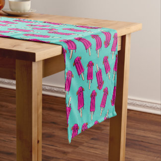 """Pupsicle"" Pattern Short Table Runner"