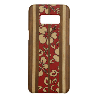 Pupukea Vintage Hawaiian Faux Wood Red Surfboard Case-Mate Samsung Galaxy S8 Case