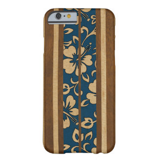 Pupukea Vintage Hawaiian Faux Wood Surfboard Barely There iPhone 6 Case