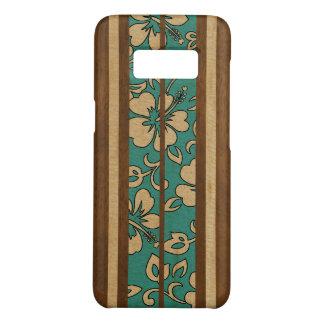 Pupukea Vintage Hawaiian Faux Wood Surfboard Case-Mate Samsung Galaxy S8 Case