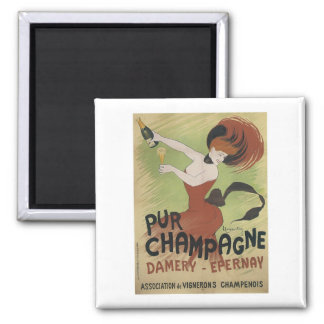 Pur Champagne, Damery-Epernay Square Magnet