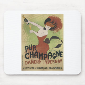 PUR CHAMPAGNE Vintage Art Poster print Mouse Pad