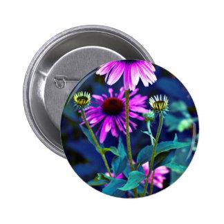 PUR-polarize Coneflowers 6 Cm Round Badge