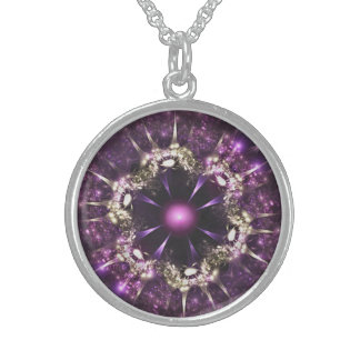PUR-polarize Flower Sterling Silver Necklace