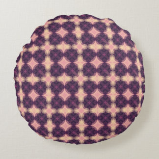 PUR-polarize Kaleidoscope Pattern Round Cushion