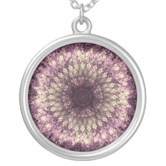 PUR-polarize Mandala Silver Plated Necklace