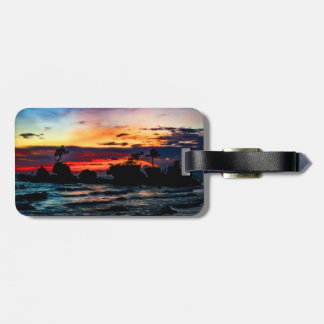 Pura Tanah Lot Temple, Bali, at sunset. Luggage Tag