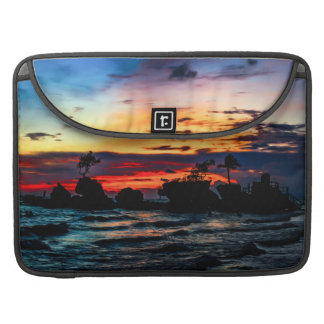 Pura Tanah Lot Temple, Bali, at sunset. Sleeve For MacBook Pro