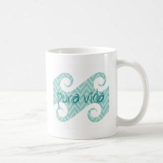 Pura Vida Chevron Teal Wave Coffee Mug