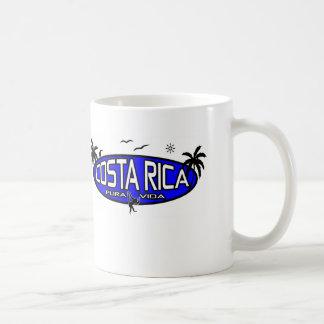 Pura Vida Costa Rica - Tropical Oval - Blue Coffee Mug