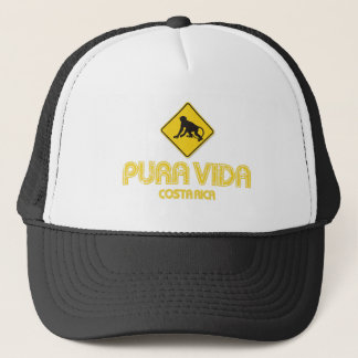 Pura Vida Monkey Crossing Costa Rica Hat