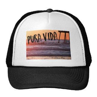 Pura Vida Ocean Beach Sunset Photo Trucker Hat
