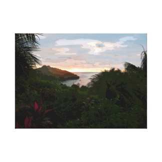 Pura Vida Sunset Canvas Print