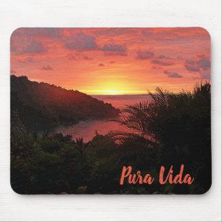 Pura Vida Sunset Sizzle II Poster Mouse Pad
