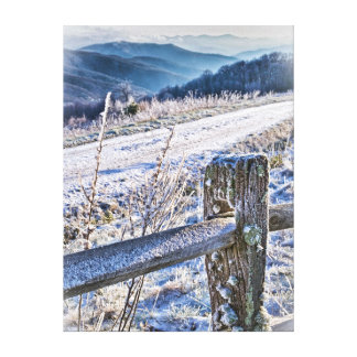 Purchase Knob Winter Scenic View Stretched Canvas Prints