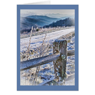 Purchase Knob Winter Scenic View Greeting Card