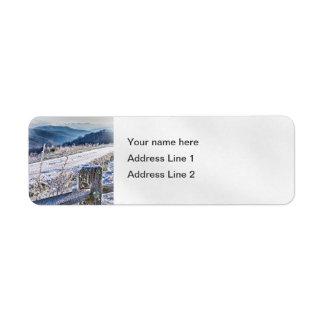 Purchase Knob Winter Scenic View Return Address Label