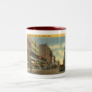 Purchase St., New Bedford, Massachusetts Vintage Two-Tone Coffee Mug