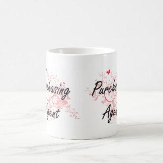 Purchasing Agent Artistic Job Design with Butterfl Basic White Mug