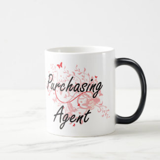 Purchasing Agent Artistic Job Design with Butterfl Morphing Mug