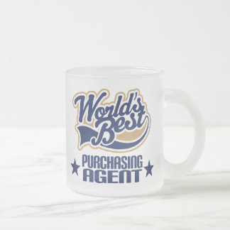 Purchasing Agent Gift (Worlds Best) Frosted Glass Mug