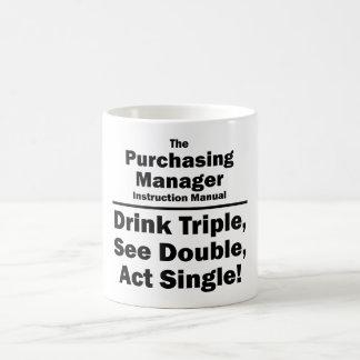 purchasing manager basic white mug