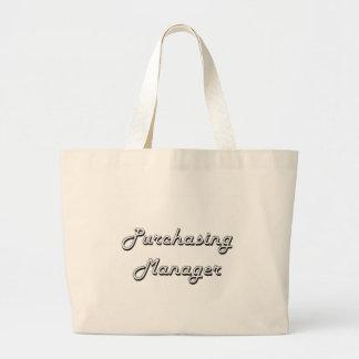 Purchasing Manager Classic Job Design Jumbo Tote Bag