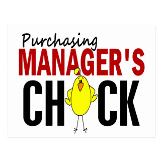 PURCHASING MANAGER'S CHICK POSTCARD