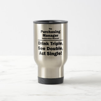 purchasing manager stainless steel travel mug