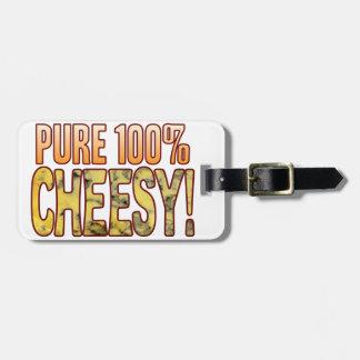Pure 100 Blue Cheesy Luggage Tag