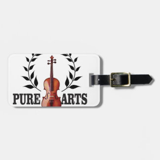 pure art fiddle luggage tag