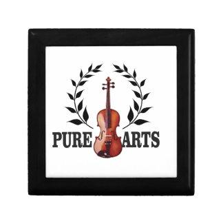 pure art fiddle small square gift box